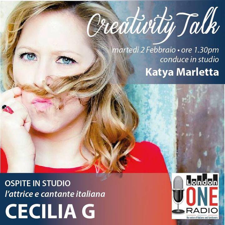 Oggi in studio con noi Cecilia G conduce la giornalista Katya Marletta