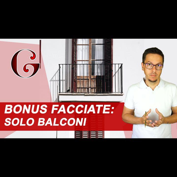 BONUS FACCIATE SOLO BALCONI, spese tecniche e interventi 2019 - SISMABONUS ACQUISTI e asseverazione
