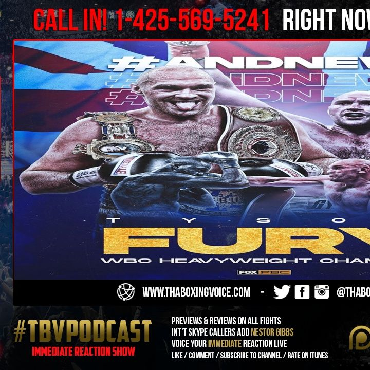 ☎️Tyson Fury SHOCKS The World TKO's Deontay Wilder New 🟢WBC & Ring Magazine Champion🤯