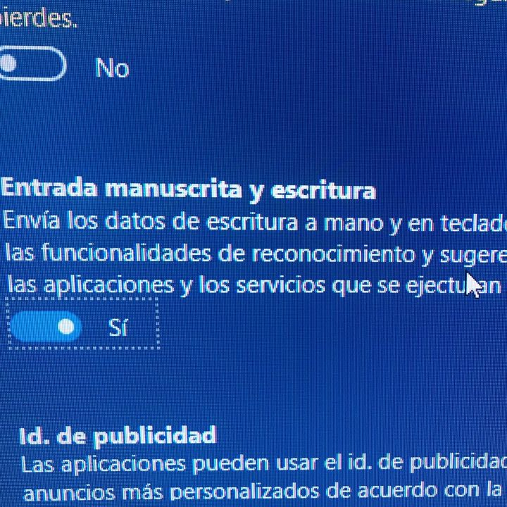 Captación de Datos Grafocinéticos por Windows 10