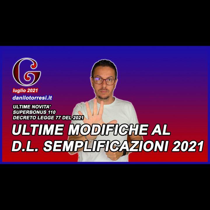 SUPERBONUS 110 ultime novità emendamenti al Decreto Semplificazioni 2021