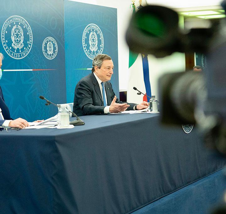 Conferenza Stampa Mario Draghi 8 aprile 2021