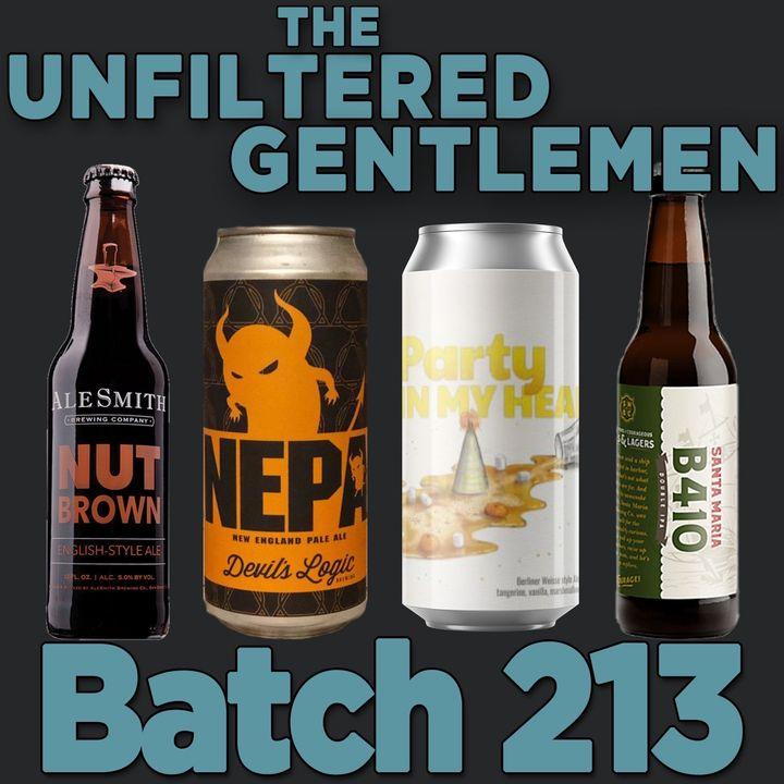 Batch213: Alesmith Nut Brown, Devil's Logic Bang A Uey, Divine Barrel Party In My Head & Santa Maria Brewing's B410