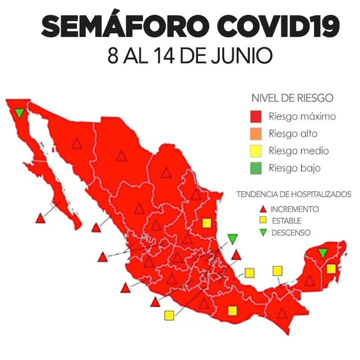 El semáforo de la pandemia en México continúa en rojo