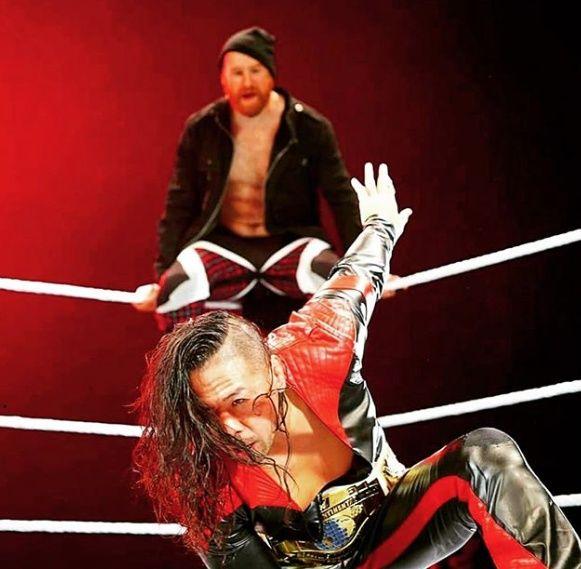 It's Mike Jones with WWE's Shinsuke Nakamura and Sami Zayn