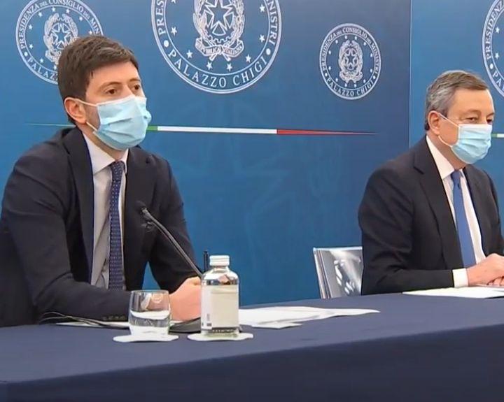 """Draghi e Speranza: la Conferenza stampa delle """"riaperture"""""""