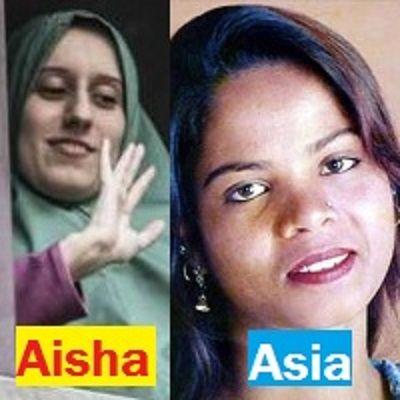 Aisha Silvia Romano e Asia Bibi: due donne a confronto