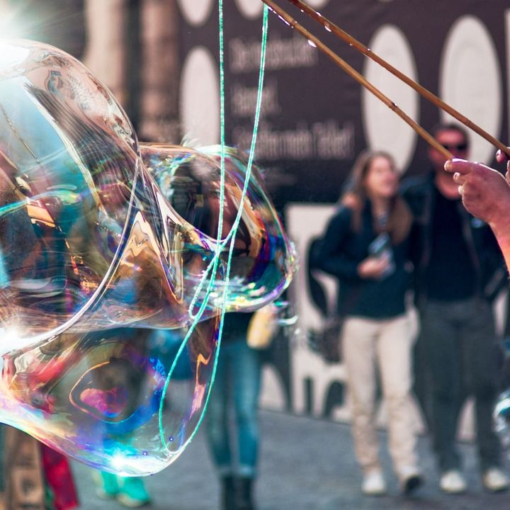 60 Seconds For Time Out Tuesday: Chasing Soap Bubbles.