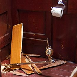 Gold toilet stolen: police have nothing to go on.