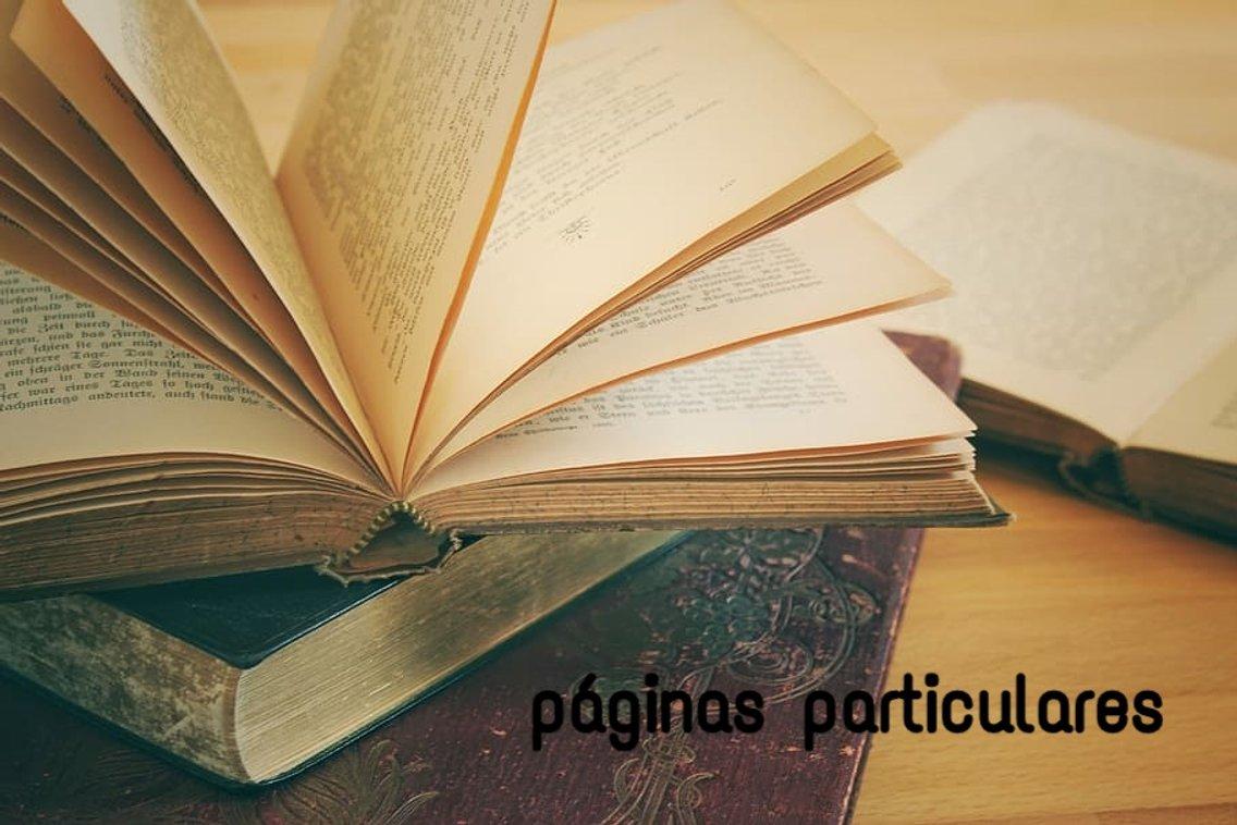Páginas particulares - Cover Image