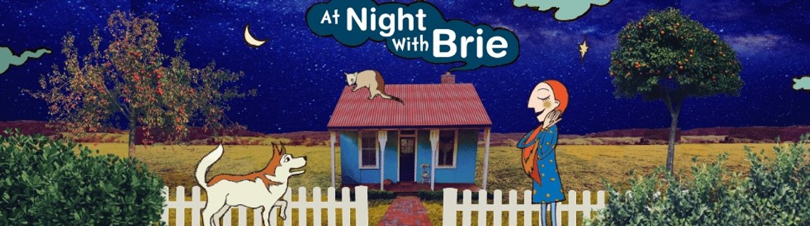 At Night With Brie: A bedtime podcast for kids and parents - immagine di copertina