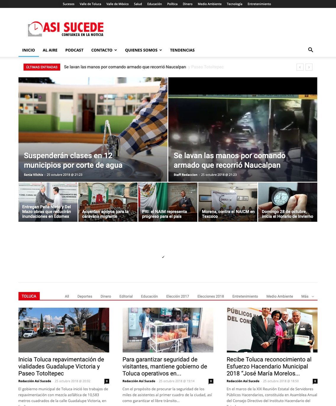Noticiario Así Sucede Toluca - Cover Image