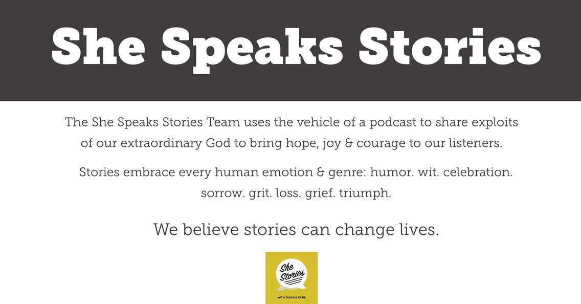 She Speaks Stories - immagine di copertina