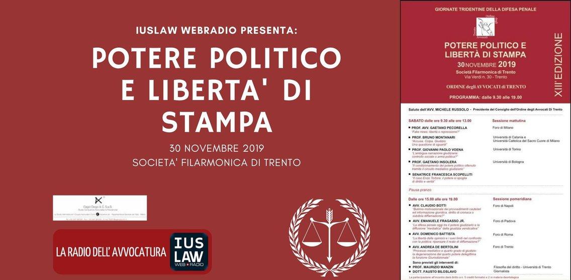 POTERE POLITICO E LIBERTA' DI STAMPA - immagine di copertina