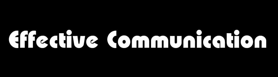 Effective Communication - immagine di copertina