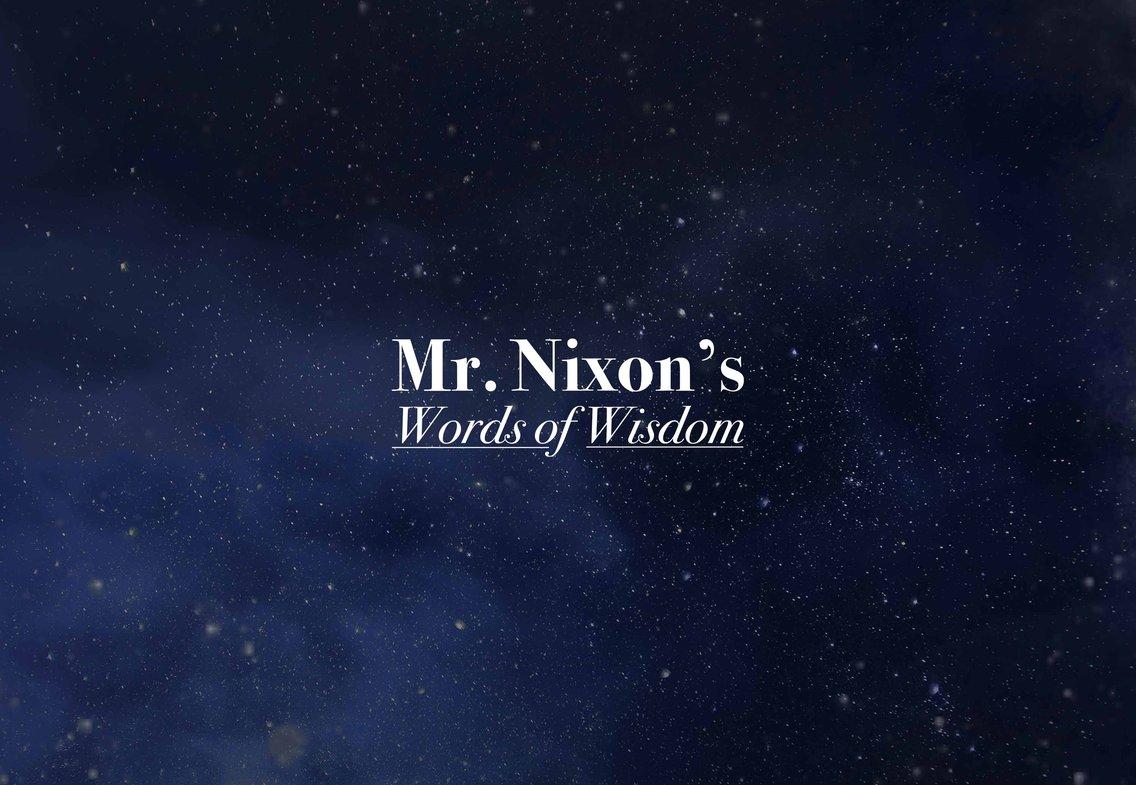 Mr. Nixon's Words of Wisdom - Cover Image