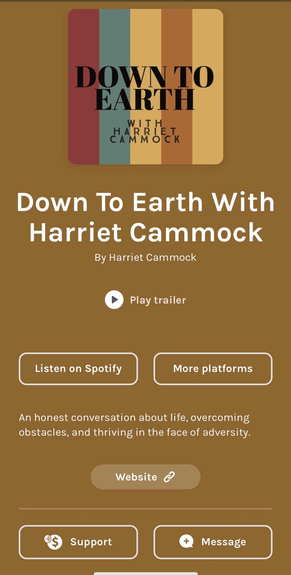 Down To Earth With Harriet Cammock - imagen de portada