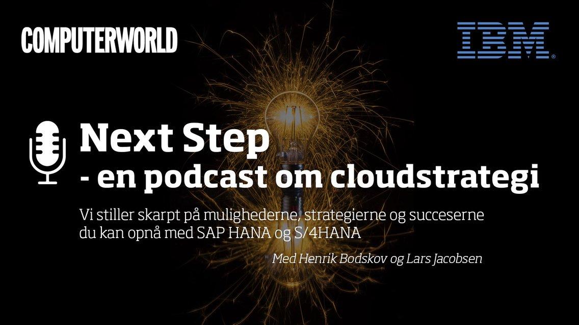 Next Step - en podcast om cloudstrategi - immagine di copertina
