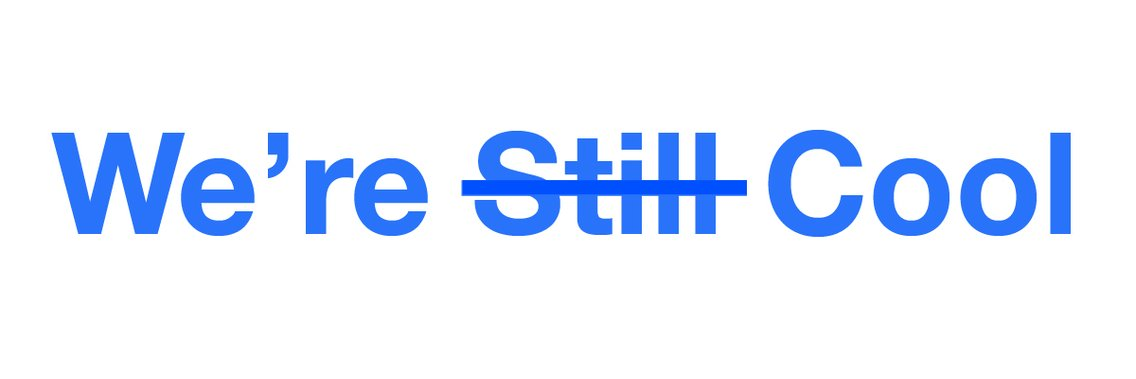 The We're Still Cool Podcast - Cover Image