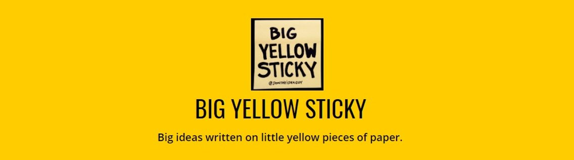Big Yellow Sticky - immagine di copertina