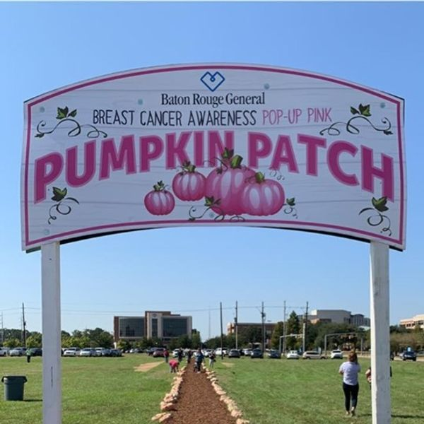 Brittany  - A special breast cancer pumpkin patch is happening today at BRG