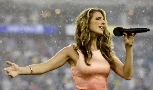 Terry Meiners - Janine Stange the National Anthem Girl""